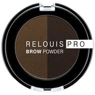 "Тени для бровей ""Brow Powder"" тон: 03, dark brown"