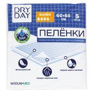 "Пелёнки одноразовые ""DryDay. Super"" (5 шт.; 600 х 600 мм) (10324298)"