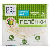 "Пелёнки одноразовые ""DryDay. Normal"" (5 шт.; 600 х 600 мм) (10324299)"