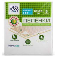 "Пелёнки одноразовые ""DryDay. Normal"" (5 шт.; 600 х 900 мм) (10324300)"