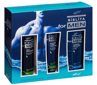 """Подарочный набор """"Bielita for Men"""" (шампунь, пена, бальзам) (10487013)"""