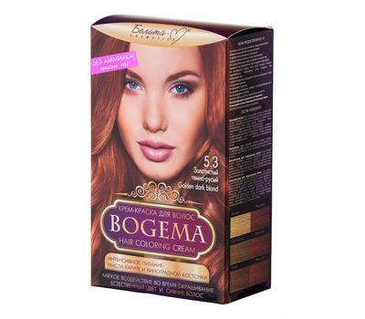 """Крем-краска для волос """"Bogema"""" тон: 5.3, золотистый темно-русый (10610741)"""