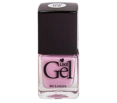 """Лак для ногтей """"Like Gel"""" (тон: 02, кашемировая роза) (10592109)"""