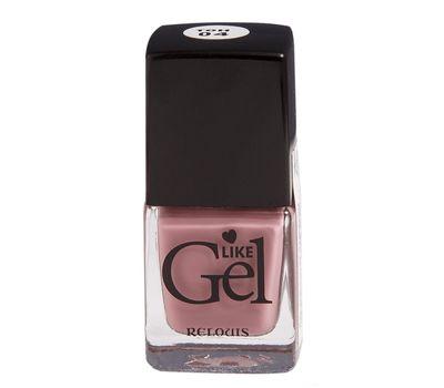 """Лак для ногтей """"Like Gel"""" тон: 04, кремовая ваниль (10592112)"""