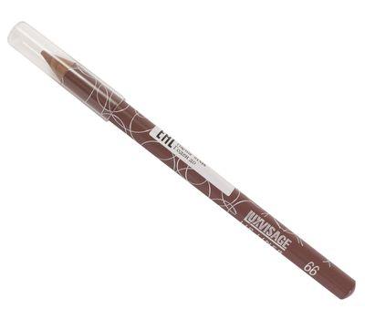 """Карандаш для губ """"LUXVISAGE"""" тон: 66, лилово-коричневый (10613101)"""