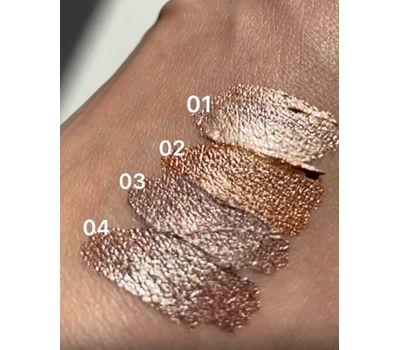 """Тени для век """"Glitter&Chrome"""" тон: 02, liquid bronze (10324641)"""